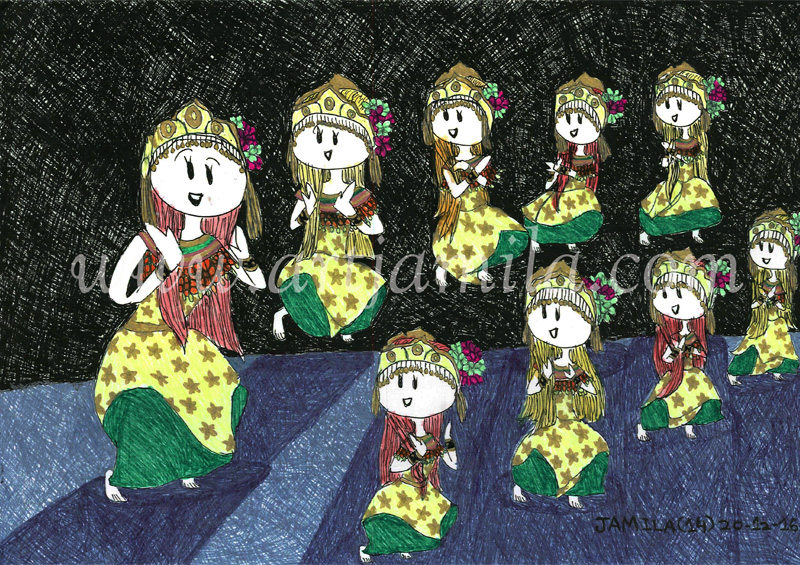 Malay Traditional Dance. Gamelan. Malaysia.(Series 1)