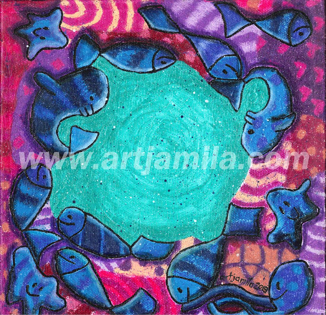 Fishmosaic in circle Series 3 1x1.watermark