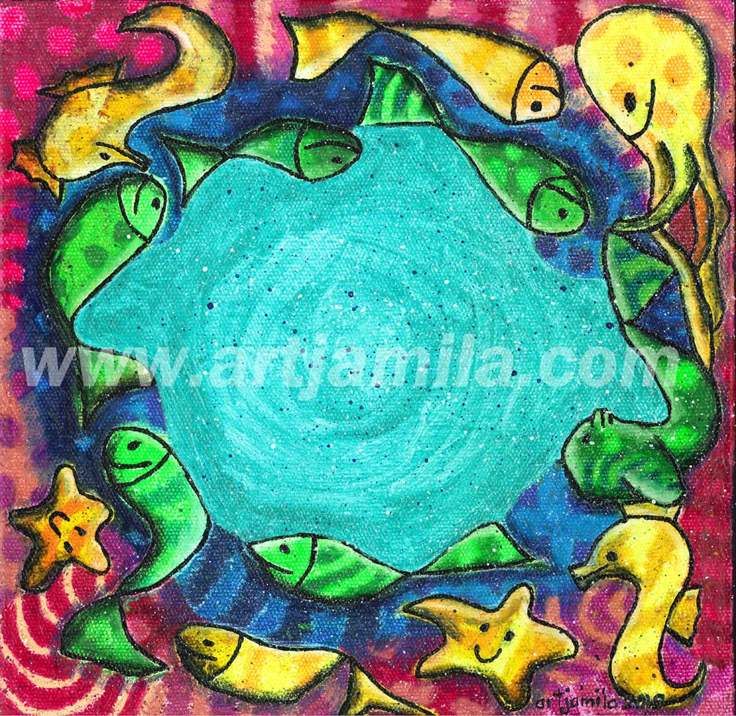 Fishmosaic in circle Series 5 1x1.watermark