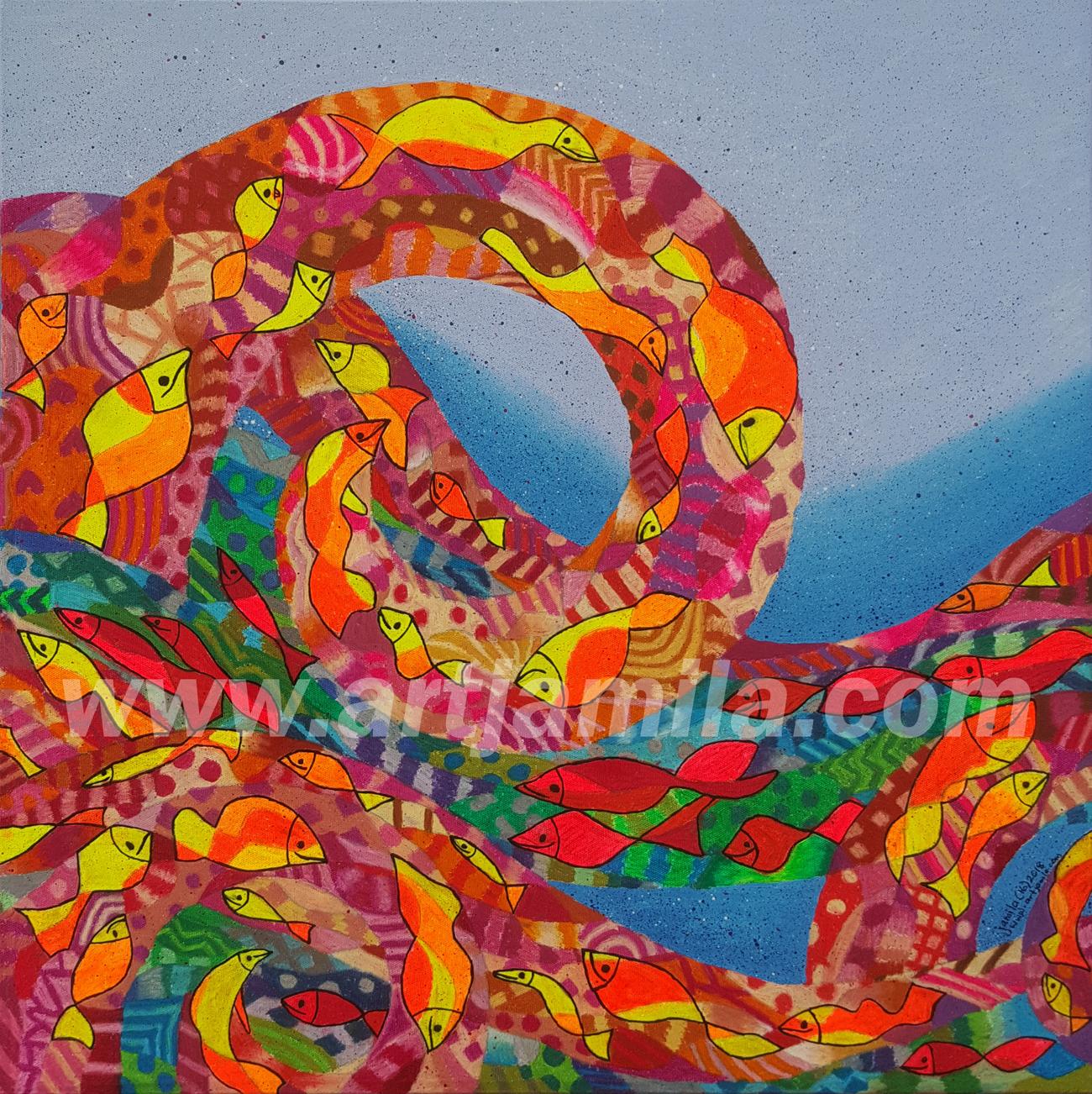 Fishmosaic Wave Series 2B. Watermark