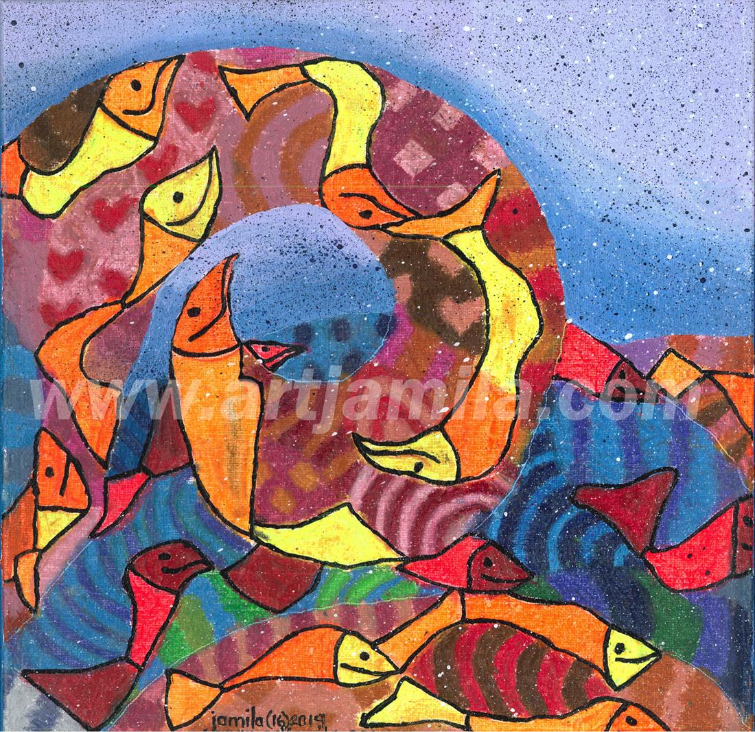 Fishmosaic Wave series 5D.1x1.watermark