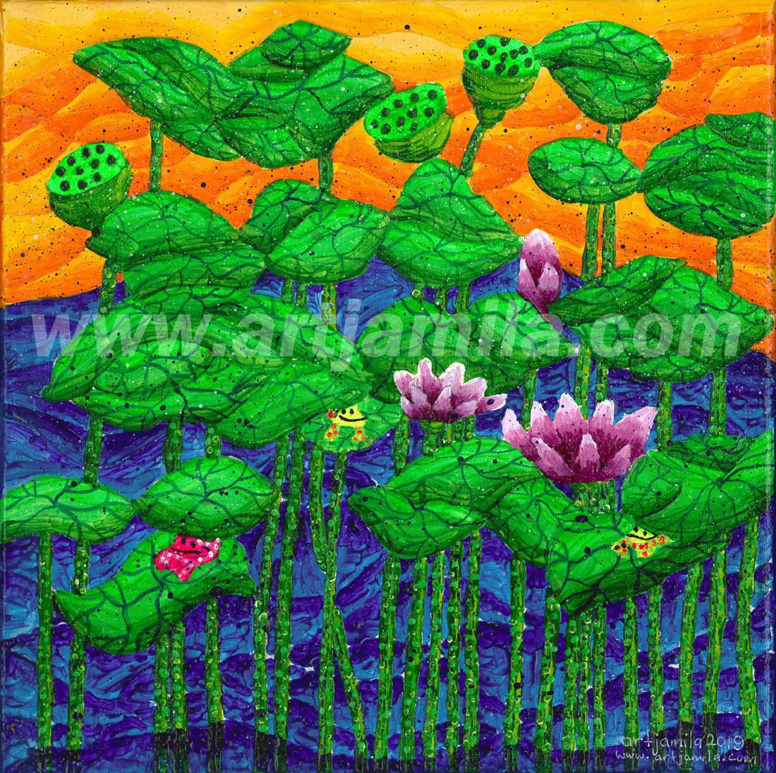 Garden of Lotus Series 2A. Watermark