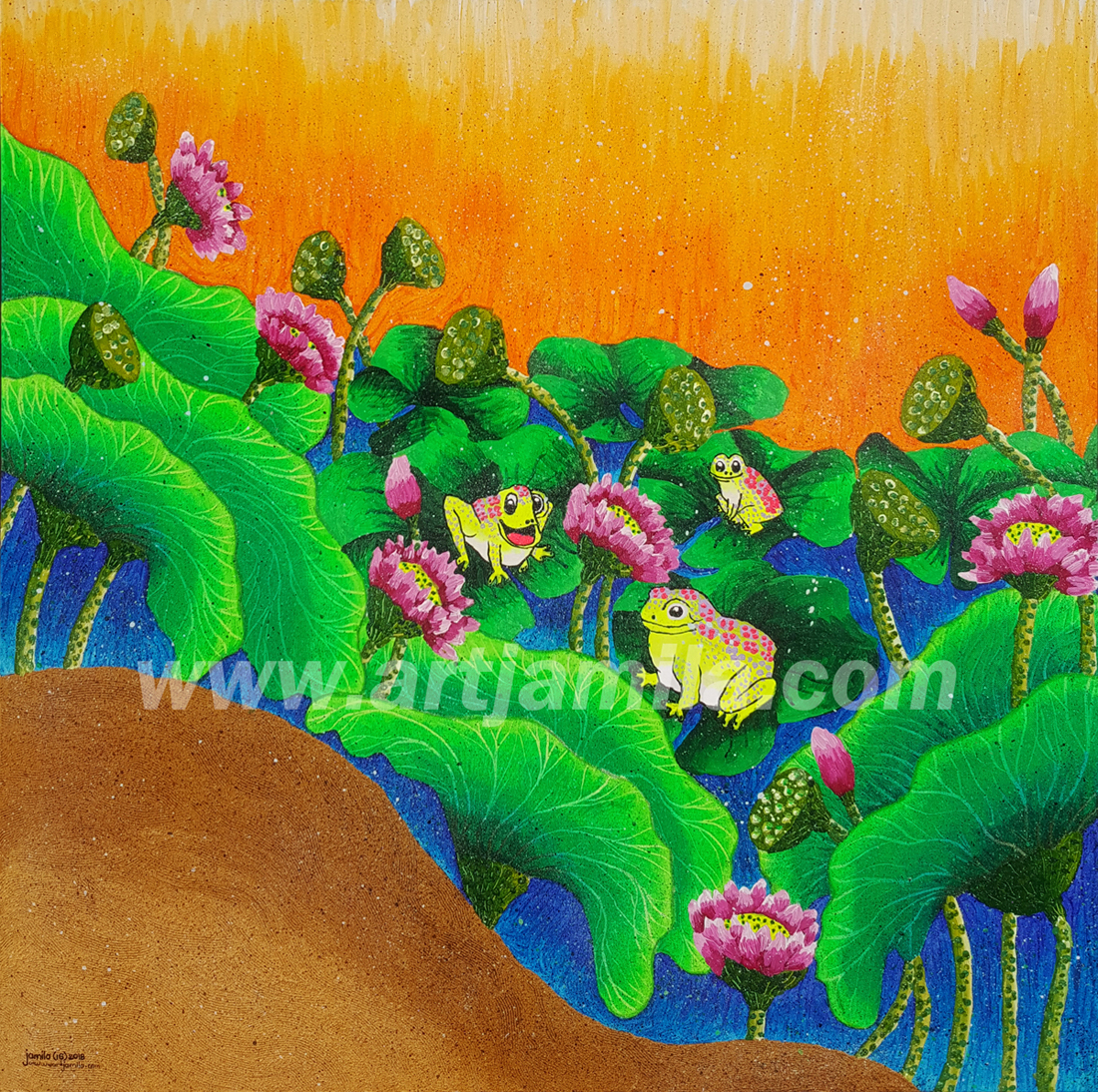 Landscape Lotus Series 7 WATERMARK (3x3)