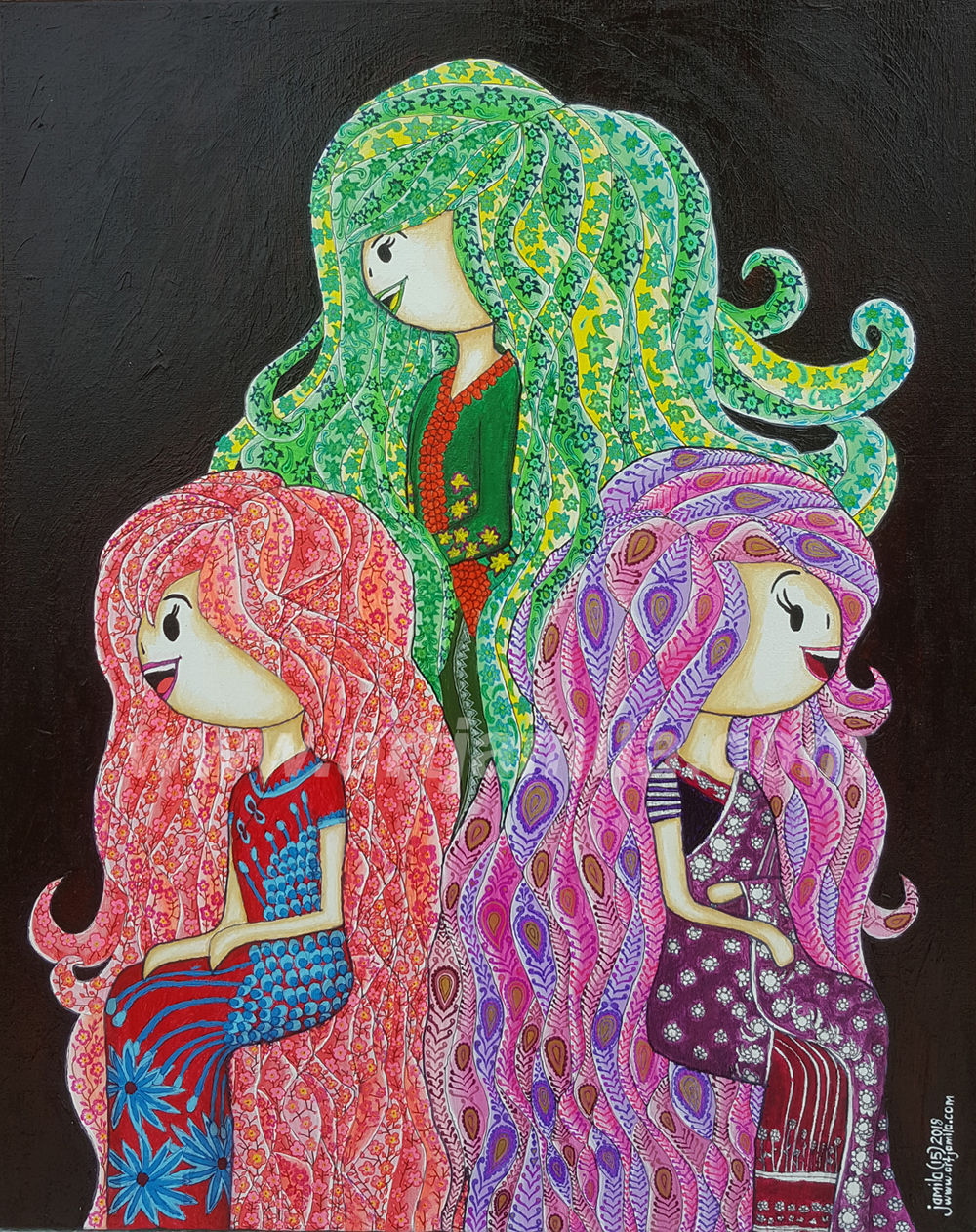 Three Ladies Series 13B WATERMARK