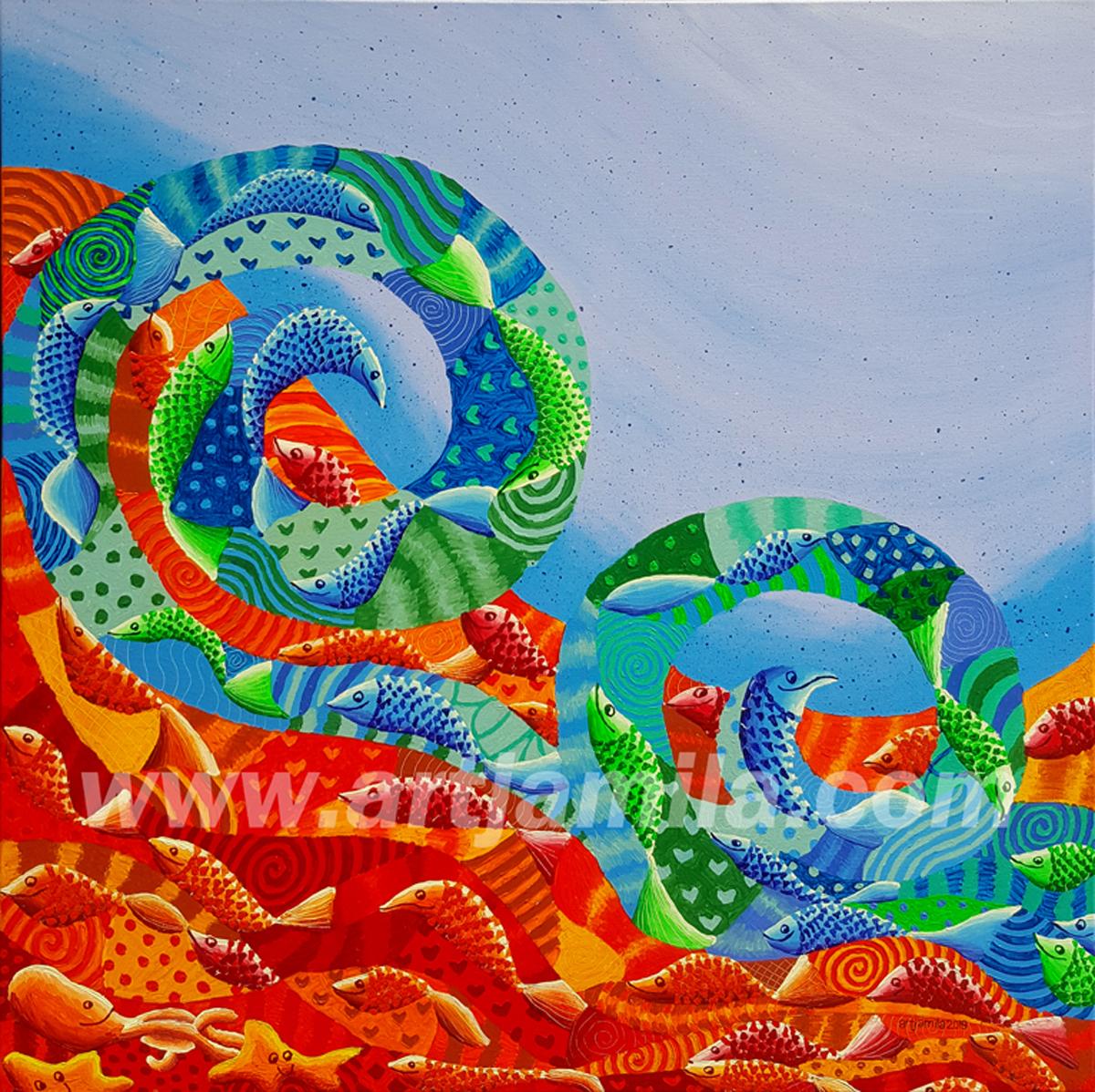Fish Mosaic Wave Series 6__